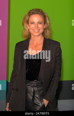 Amy Robach attends the Apple TV+'s 'The Morning Show' World Premiere at David Geffen Hall in New York City. - Stock Photo