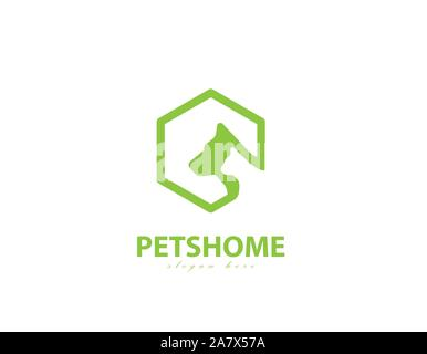 Vector image of an dog and cat design on white background. Petshop