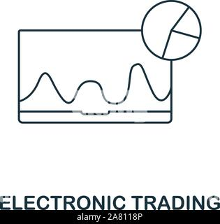 Electronic Trading icon outline style. Thin line creative Electronic Trading icon for logo, graphic design and more - Stock Photo