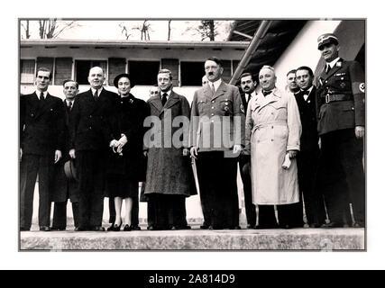 ADOLF HITLER DUKE & DUCHESS WINDSOR The Duke and Duchess of Windsor visting Adolf Hitler on 22nd October 1937, at the Berghof, at Obersalzberg Germany - Stock Photo