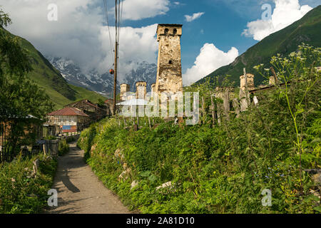 Ushguli village, Upper Svaneti, Georgia