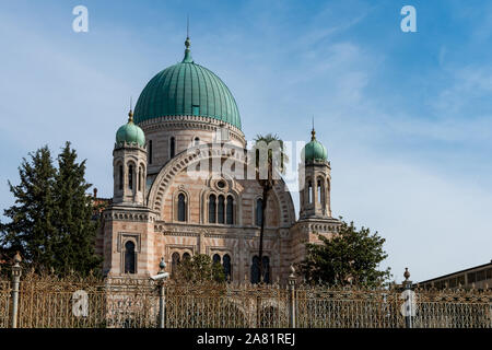 FLORENCE, ITALY - 25, MARCH, 2016: Horizontal picture of beautiful architecture of The Great Synagogue located in  Florence, Italy - Stock Photo