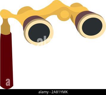 Opera glasses, illustration, vector on white background. - Stock Photo