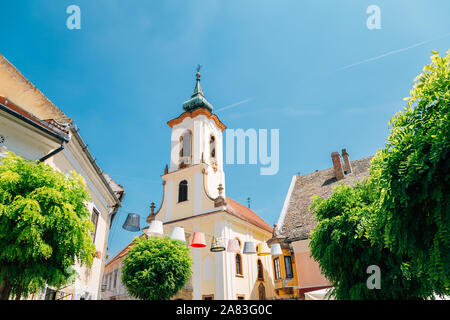 Blagovestenska church at Szentendre medieval old town main square in Hungary