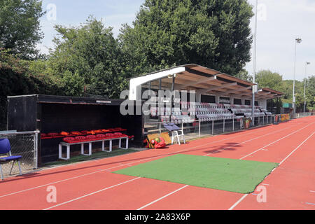 General view of the ground during Hornchurch vs Kingstonian, BetVictor League Premier Division Football at Hornchurch Stadium on 24th August 2019 - Stock Photo