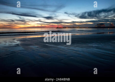 serene sea at nightfall - Stock Photo
