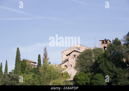 Bassano del Grappa, Italy, 10/22/2019 , church of 'santa maria assunta' near the Ezzelini castle.