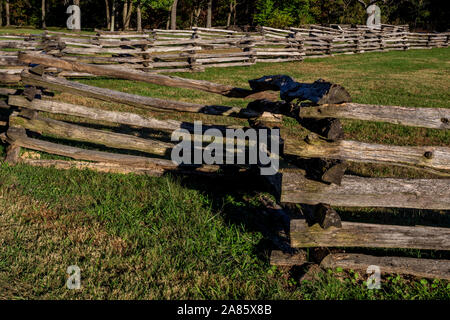 Pea Ridge National Battlefield in Pea Ridge, Arkansas - Stock Photo