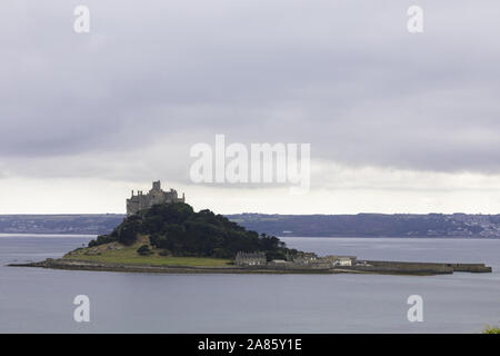 st michael's mount / karrek loos yn koos, mount's bay, marazion, cornwall, england, great britain, uk - Stock Photo