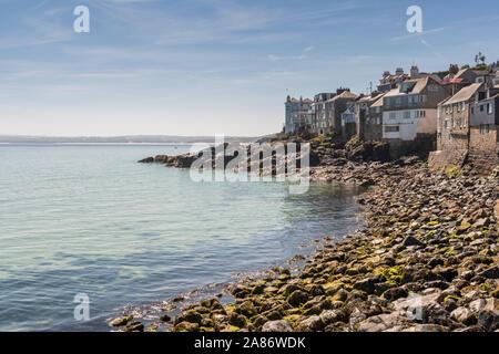 Summer in the popular seaside resort of St Ives, Cornwall.