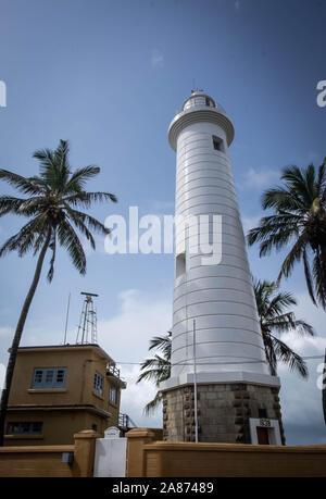GALLE, SRI LANKA - AUGUST 10, 2016:  The best city of south of Sri Lanka, It's Galle city view from the wall fort,  The scenic view of the relaxing, - Stock Photo