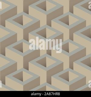 Cube 3D abstract background. Decorative design vector and illustration - Stock Photo