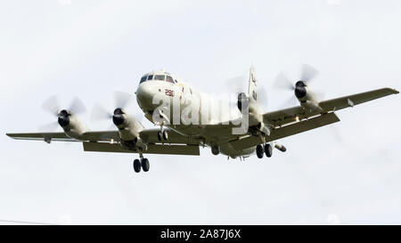 YPSILANTI, MICHIGAN / USA - August 25, 2018: A United States Navy P-3 Orion at the 2018 Thunder Over Michigan Airshow. Stock Photo