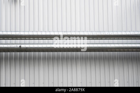 Air vent ducts of air conditioning and ventilation system on the wall. - Stock Photo