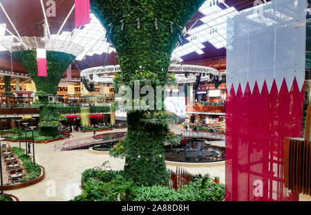 Beautiful mall in Qatar. Mall of Qatar, Al Rayyan - Stock Photo