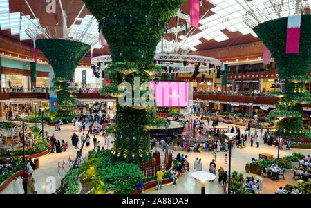 Beautiful mall in Qatar. Mall of Qatar, Al Rayyan - Stock Photo