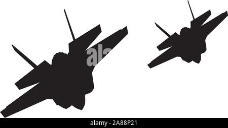 Airstrike. Vector fighters - Stock Photo