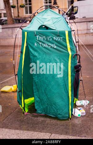 Extinction Rebellion Protest in London - Stock Photo