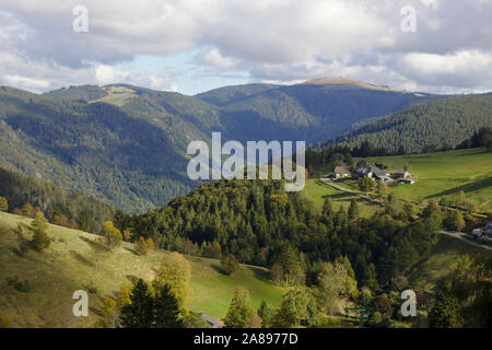 View from Schauinsland to Feldberg, Black Forest, Germany
