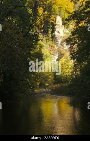 Wutachschlucht (Wutach canyon),  autumn, Black Forest, Germany - Stock Photo