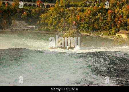 Rheinfall near Schaffhausen, Switzerland - Stock Photo