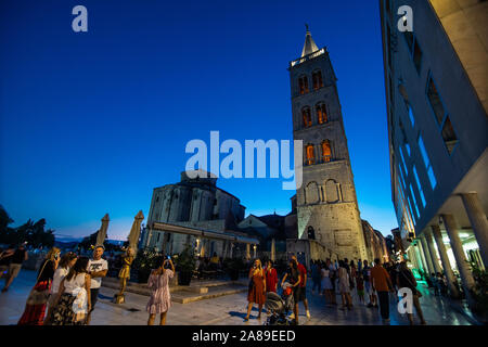 Zadar, Croatia - July, 2019. Old Zadar church and artifacts Dalmatia - Stock Photo