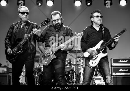 July 4, 2019, Moapa Nevada, Blue Oyster Cult on stage at the Moapa Event Center In Moapa, Nevada. - Stock Photo