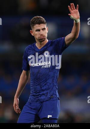 Jorginho of Chelsea - Chelsea v Ajax, UEFA Champions League - Group H, Stamford Bridge, London, UK - 5th November 2019 - Stock Photo
