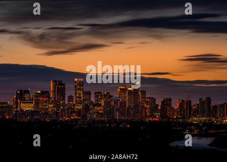 Sunrise of Calgary Alberta Canada - Stock Photo