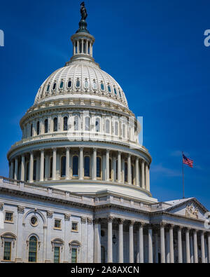 The United States Capitol Building in Washington DC on a summer day. - Stock Photo