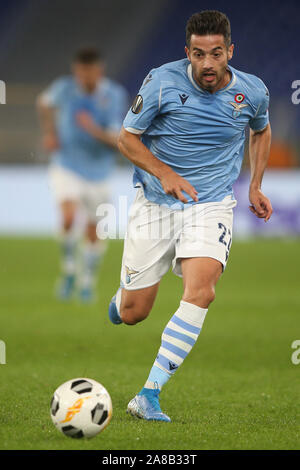 Rome, Italy. 07th Nov, 2019. Rome, Italy - November 07, 2019:Jony (LAZIO) in action during the Uefa Europa League Group E soccer match between SS Lazio and Celtic Glasgow, at Olympic Stadium in Rome. Credit: Independent Photo Agency/Alamy Live News - Stock Photo