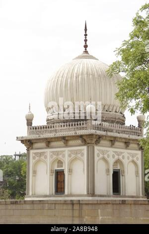 Qutab Shahi Tombs : They are located in the Ibrahim Bagh, close to the famous Golconda Fort in Hyderabad, India.