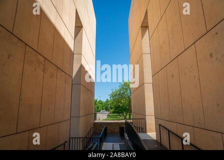 Oklahoma City National Memorial in summer - Stock Photo