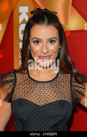 New York, United States. 07th Nov, 2019. Lea Michele attends the Kohl's Opening Event at their 'New Gifts At Every Turn' pop-up in New York City. Credit: SOPA Images Limited/Alamy Live News - Stock Photo