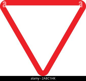give way sign icon on white background. give way sign. flat style. give way symbol. - Stock Photo
