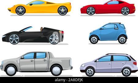 Car cartoon illustrations - Stock Photo