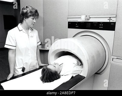 MRI scanner, City Hospital, Nottingham UK 1001 - Stock Photo