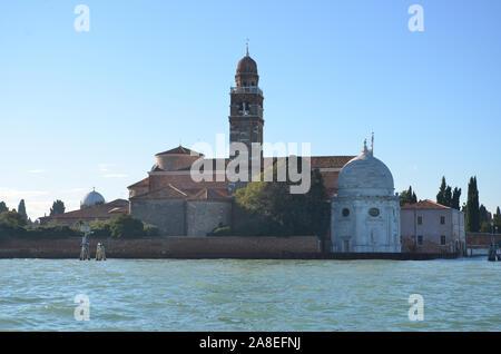 Church of San Michele on Isola di San Michele, Venice - Stock Photo