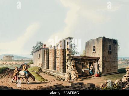 Ancient Temples at Agrigentum from Views in the Ottoman Dominions, in Europe, in Asia, and some of the Mediterranean.jpg - 2A8ER8G - Stock Photo
