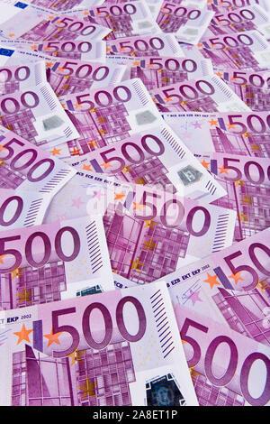 500 Euro Banknoten, Symbolfoto für Reichtum, Altersvorsorge, Sparen, rente, - Stock Photo