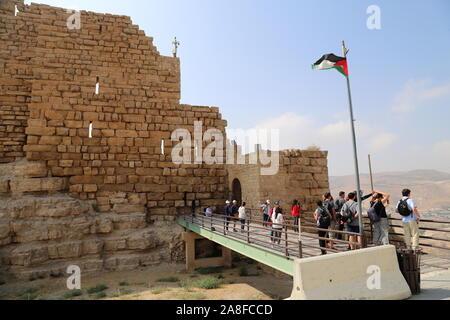 Ottoman's Gate, Karak Castle, Al Karak, Karak Governorate, Jordan, Middle East - Stock Photo