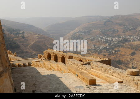 Lower Court, Karak Castle, Al Karak, Karak Governorate, Jordan, Middle East - Stock Photo