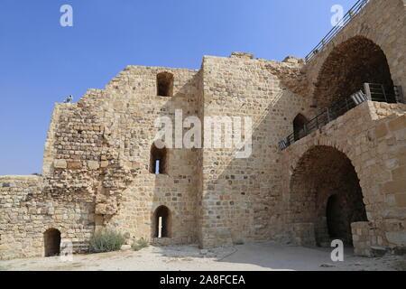 Crusader Gallery (Stables), Karak Castle, Al Karak, Karak Governorate, Jordan, Middle East - Stock Photo