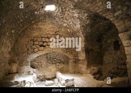 Kitchen, Karak Castle, Al Karak, Karak Governorate, Jordan, Middle East - Stock Photo
