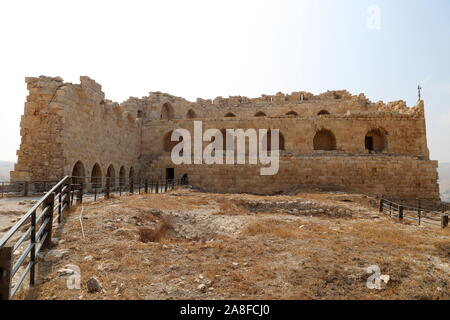 Mamluk Keep and Palace remains, Karak Castle, Al Karak, Karak Governorate, Jordan, Middle East - Stock Photo