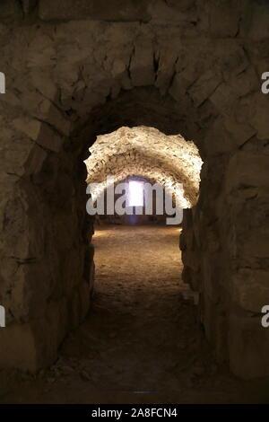 Marketplace, Karak Castle, Al Karak, Karak Governorate, Jordan, Middle East - Stock Photo
