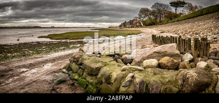 Sunderland Point on the Lune Estuary near Lancaster is one of those odd places that you sometimes stumble upon.  I spotted it on a map a few years ago - Stock Photo