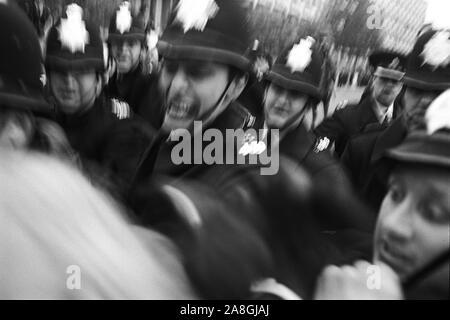 Police at the anti Vietnam war demonstration Grosvenor Square London England. 17 March 1968. 1960s UK  HOMER SYKES - Stock Photo