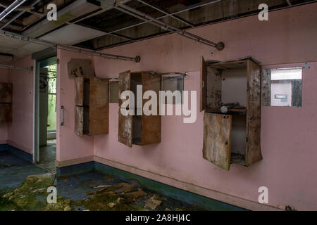 Standish Hospital near Stoud, Gloucestershire closed in 2004. The site is currently being redeveloped into a housing estate. - Stock Photo