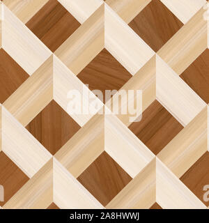abstract home decorative wooden wall and floor design background, 3D shape wooden background - Stock Photo